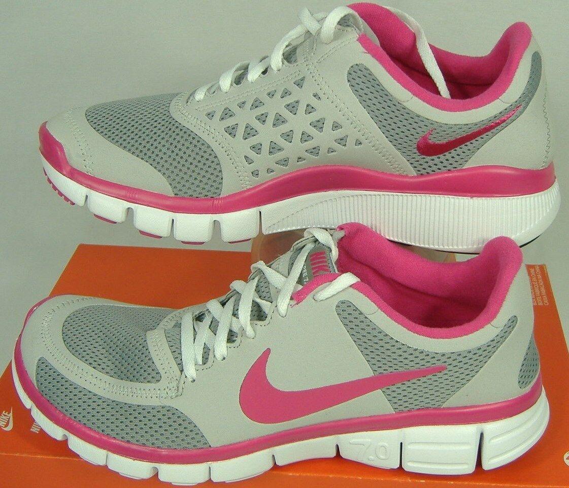 Nueva Nueva Nueva camiseta para mujer 12 Nike Free 7.0 Calzado para Correr gris rosado  100 396044 -002  lo último