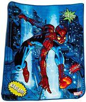 Marvel Spiderman Comic Fleece Throw, New, Free Shipping on sale
