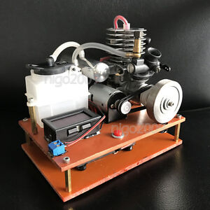 Details about Mini 2-Stroke Gasoline Engine Model Toy Petrol Engine Mixture  Nitro DC Generator