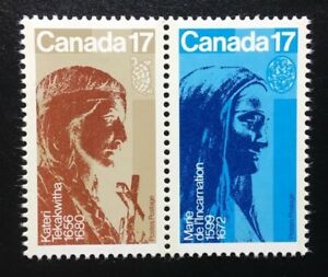 Canada-885-886a-MNH-Canadian-Religious-Personalities-Pair-of-Stamps-1981