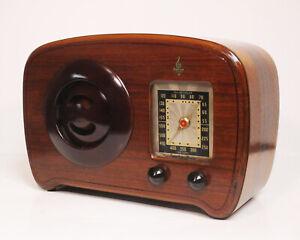 Old-Antique-Wood-Emerson-Vintage-Tube-Radio-Restored-Working-Ingraham-cabinet