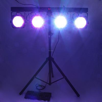 4BAR 580LEDs PAR 64RGB DMX LED Wash Stage Light Tripod Stand + Footswitch