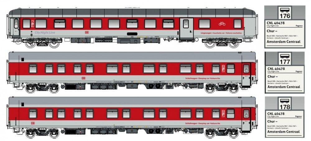 LS models H0 49055 3 Piezas Set CNL ep.vi DBAG LOGO Pegasus SET B DC