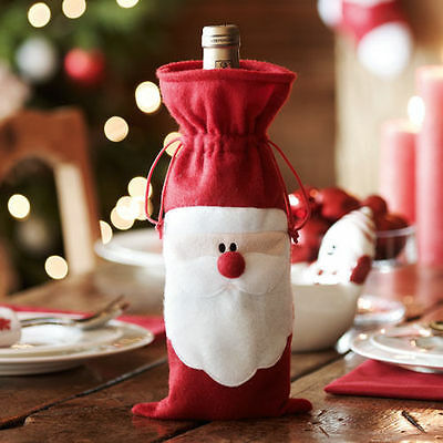 Fancy Santa Claus Father Christmas Wine Bottle Cover Christmas Table Decoration