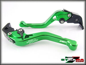 Strada-7-Short-Adjustable-Brake-Clutch-CNC-Levers-Honda-GROM-MSX125-14-16-Green