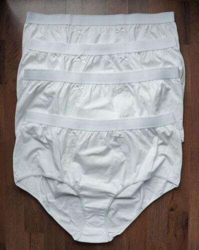 NEU Übergröße 4 Stück Damen Bauchweg Stretch Slips weiß m.Spitze Gr.64//66