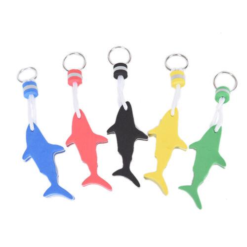 1pc EVA Floating Keychain For Water Sports Marine Boat Swimming Shark Keyring DO