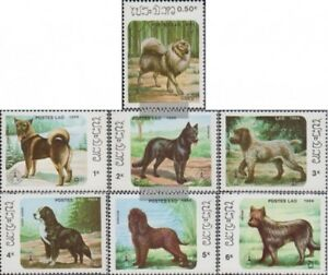 Laos-944-950-kompl-Ausg-postfrisch-1986-Hunde