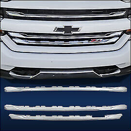 """Chrome Grille Overlay (3 PCS) FITS 2016-2018 Chevy Silverado 1500 """"LT Z71"""" ONLY"""