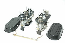 Porsche 911 Weber 46IDA Carburetors with black rain guards