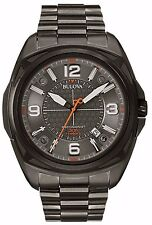 Bulova Men's 98B225 Precisionist Black Dial Stainless Steel Grey Watch
