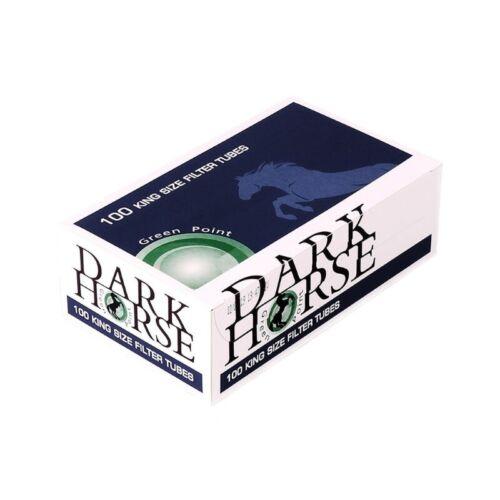 Boîte de 100 Tubes à Cigarettes DARK HORSE avec capsule