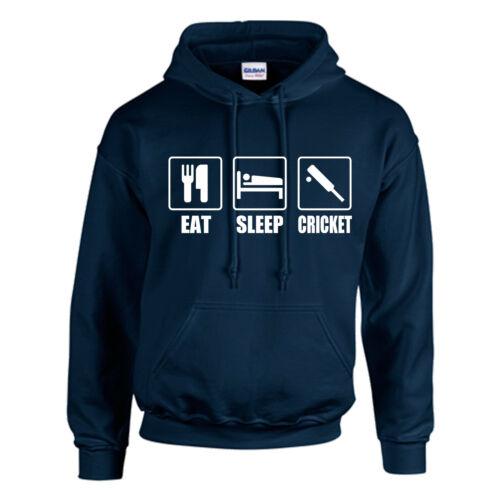 Eat sleep Enfants-Cadeau Personnalisé-Top Sport BAT BALL Cricket Capuche Adulte