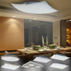 LED Deckenleuchte Deckenlampe Designleuchte Wohnzimmer Küche Glas ...