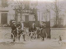 PHOTO ANCIENNE - VINTAGE SNAPSHOT - VÉLO BICYCLETTE MODE VILLEMOMBLE - BIKE 1895