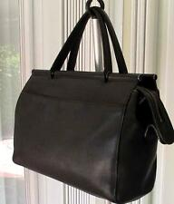 COACH WHITNEY BLACK  LEATHER VINTAGE HANDBAG TOTE  BAG SATCHEL 9182