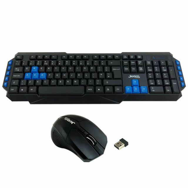 c7941ffd771 2.4GHz Gaming Wireless Keyboard and Mouse Set Combo Ergonomic for PC Laptop  UK