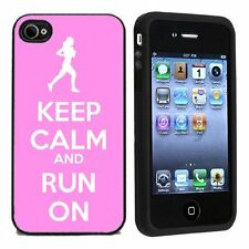 Keep Calm and Run On For Apple iPhone 4 or 4s Case / Cover All Carriers Pink