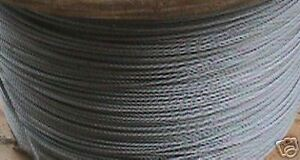 """100ft  3//32/"""" STAINLESS STEEL WIRE ROPE CABLE NEW"""