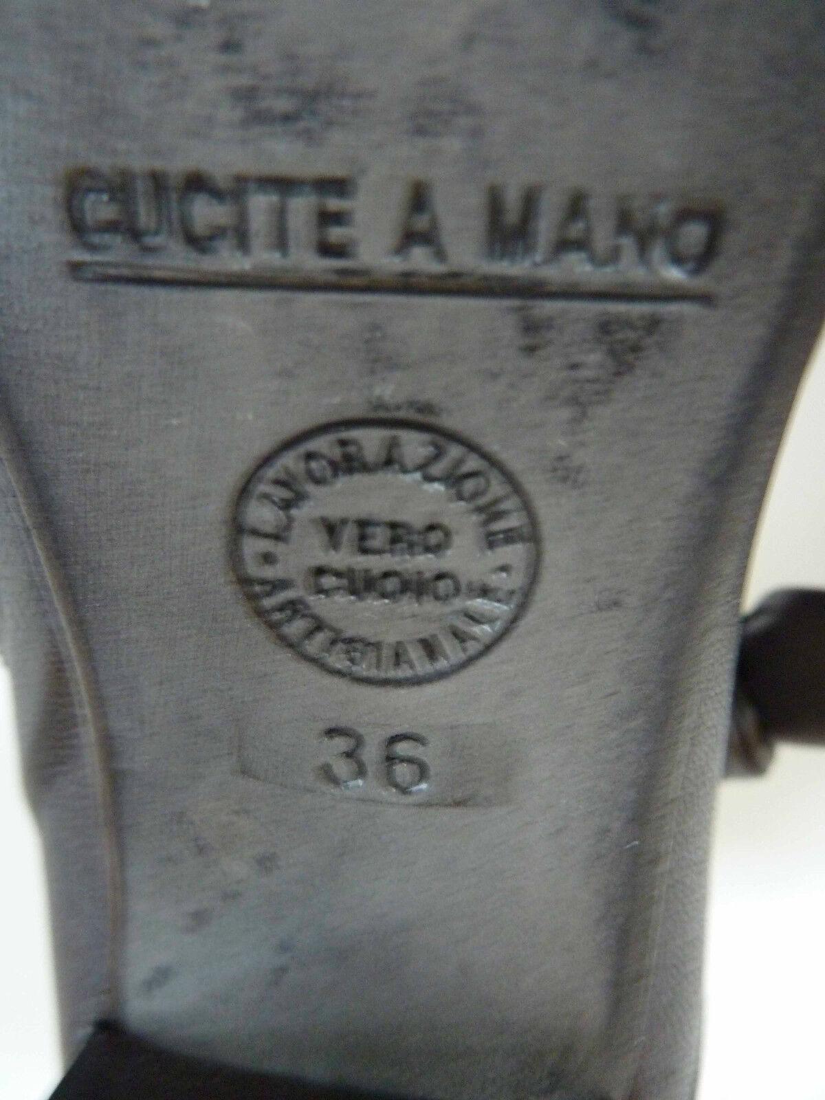 Progetto Glam Italia-TALLA Botas De Cuero-Hecho en Italia-TALLA Glam US 6 Med-Nuevo En Caja - de0d90