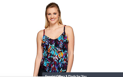 Tropez Mesh 3-Tiered Tankini Top pick size color St