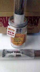 "100 Genuine Wild Berry 11"" Royal Violet incense sticks in a plastic wrapper."