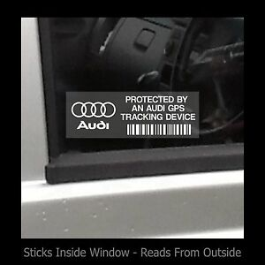 Protected By An Audi GPS Tracking Window Sticker Sign - Audi car tracker