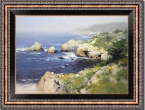 """Hand painted Oil painting original Art Landscape seascape on canvas 24""""x36"""""""