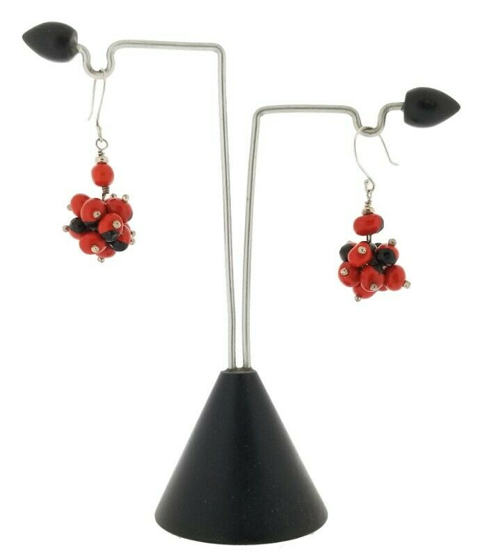 Large Huayruro Seed Earring Set in Sterling Silver Bezel. with sterling silver hook