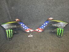 Kawasaki KXF250 2013-2016 Team USA MXDN radiator shroud panels + graphics KX1953