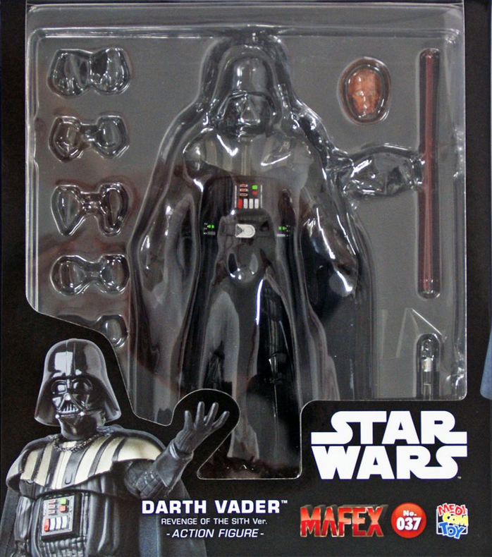 Star Wars Mafex Revenge of the Sith Darth Vader Action Figure  37