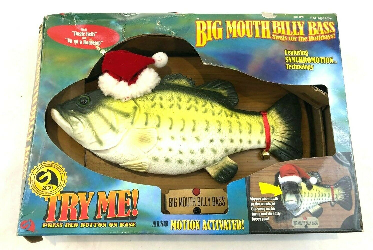 Big Mouth Billy Bass Christmas Edition  NEW in BOX