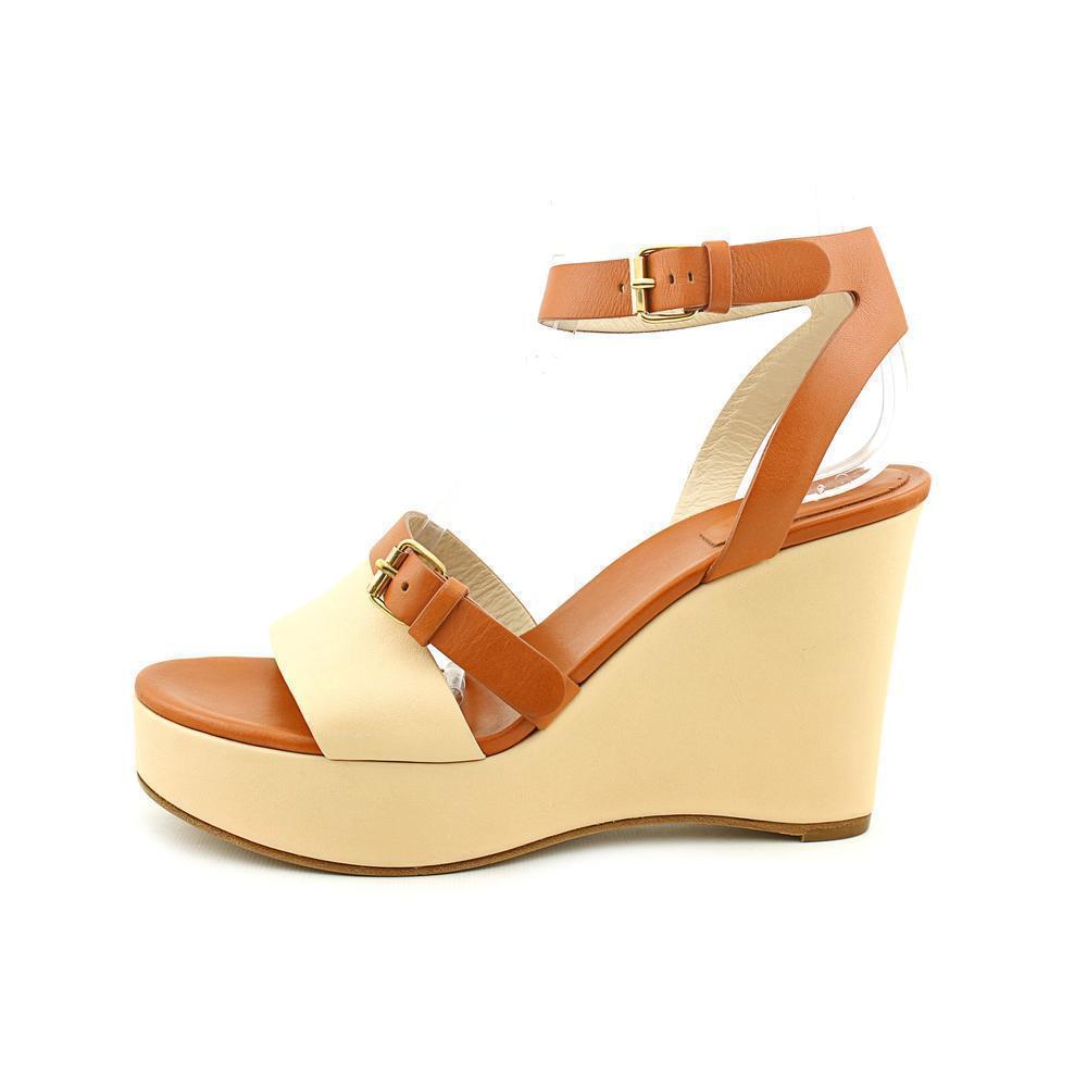 CHLOE 2 -ton Wedge Open Toe Sandal, Storlek 9 9 9 -9.5, EU 39.5, NIB  känt märke