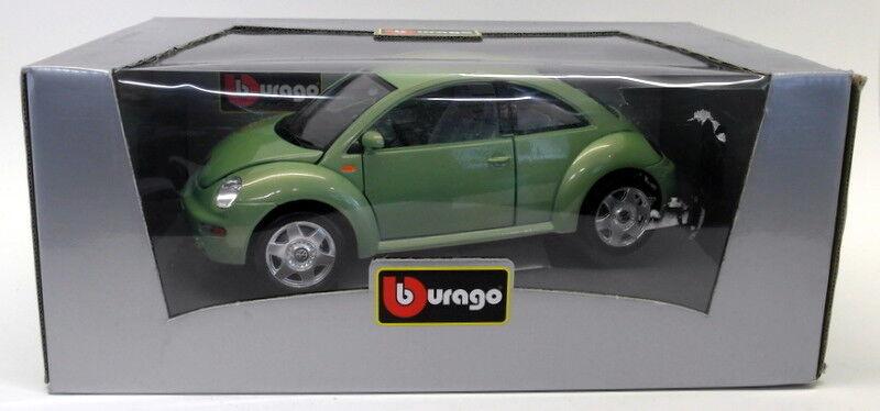 Burago 1 18 scale DIECAST vwgrn Volkswagen New Beetle 1998 verde Coche Model