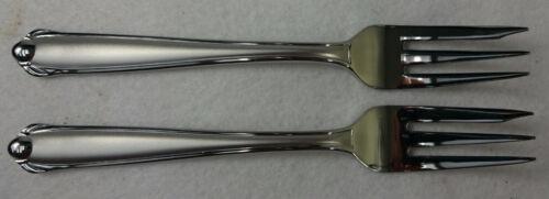 "MIKASA stainless silver CLASSICO SATIN Dessert Cake Salad Fork Set of 6-1//4/"" 2"