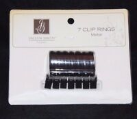 Jaclyn Smith 7 Clip Metal Panel Curtain Rings - Espresso 1.18 In Dia