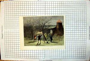 Antique-Print-Wassailing-Apple-Trees-Hot-Cider-Devonshire-Twelfth-Eve-1861-19th