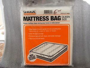 U-HAUL Moving Queen Size Mattress Bag Plastic Cover | eBay