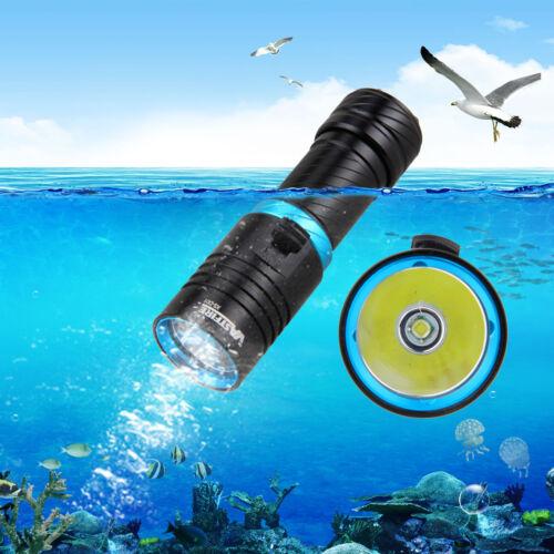 Underwater 100m Adjust Brightness 10000LM T6 LED Diving Flashlight Torch Light