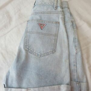 women-039-s-Vintage-GUESS-Georges-Marciano-jean-shorts-sz-28-80-039-s-90-Triangle-logo