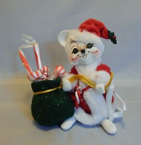 """Annalee Doll 6/"""" ~ 2005 Patriotic Girl Mouse with Sparklers EUC Streamers"""