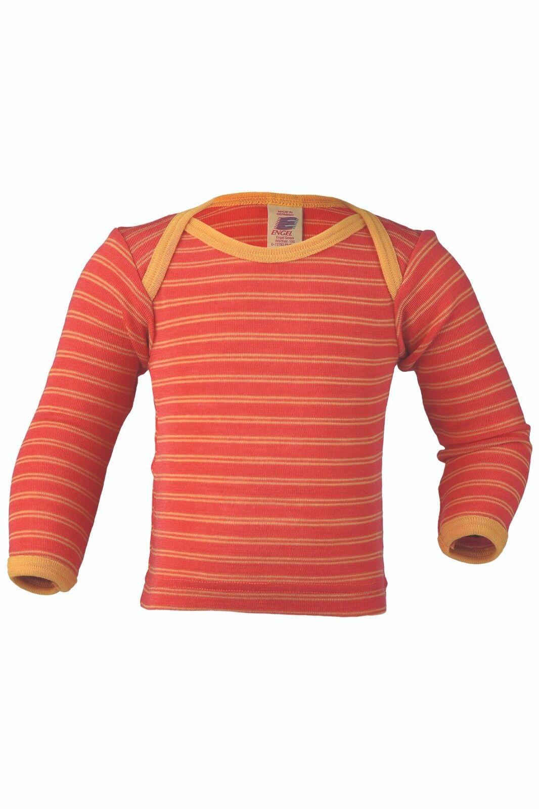 f470f38995 Engel 100 Merino Wool Striped Baby T-shirt Thermo Underwear 74/80 ...