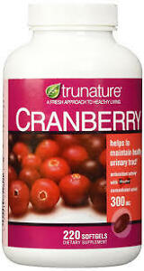 Treehousecollections-Trunature-Cranberry-Health-Supplement-30mg-220-Softgels