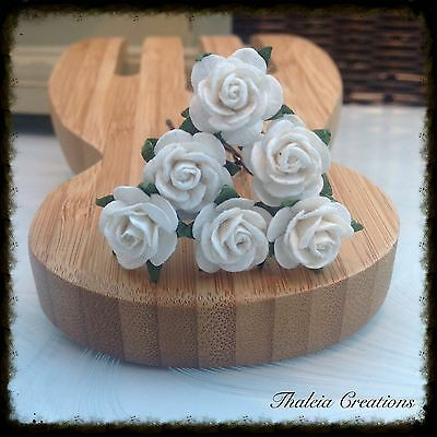 6 ROSE GRIPS**Wedding*Flower girl*Vintage*Hair Accessories*Bridesmaid*