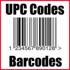 25000 UPC EAN Numbers Barcodes Bar Code GS1 for e Commerce US UK EU CA IN TR