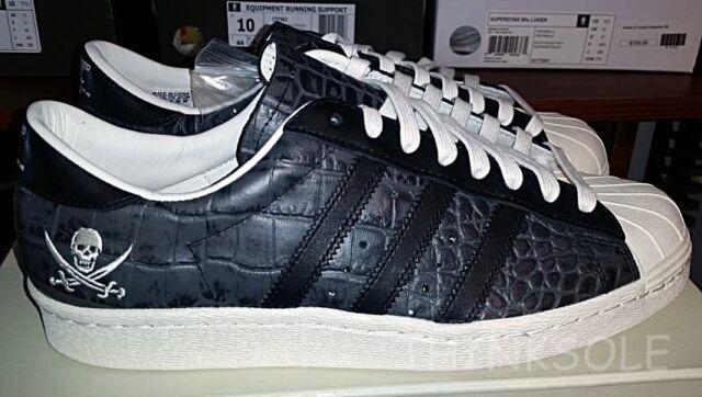 adidas Consortium X Neighborhood Superstar 80v NBHD Black Black White B34070 8.5