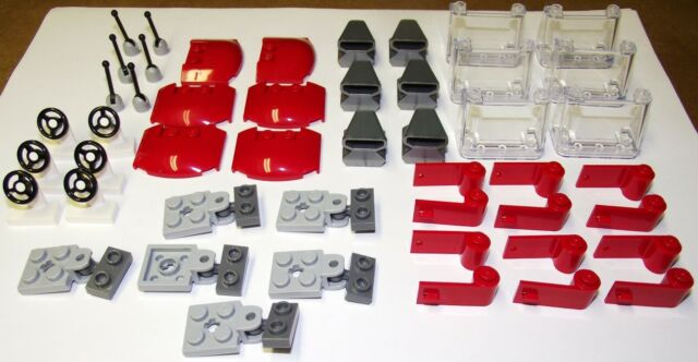 4 PAIRS PARTS 3822 AND 3821 RED AND BLACK LEFT AND RIGHT DOORS