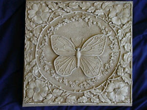 BUTTERFLY CONCRETE CEMENT PLASTER STEPPING STONEMOLD 1067