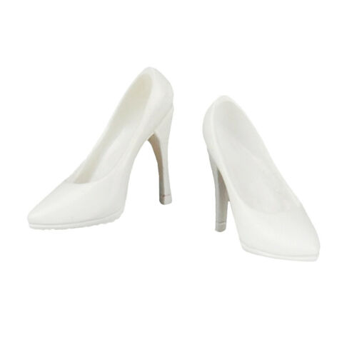 """12/"""" Female Action Figure Shoes White High Heels for 1//6   Action Figure"""