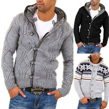 CARISMA Herren Strickjacke, versch. Modelle/Farben, Norweger Pullover Jacke, NEU
